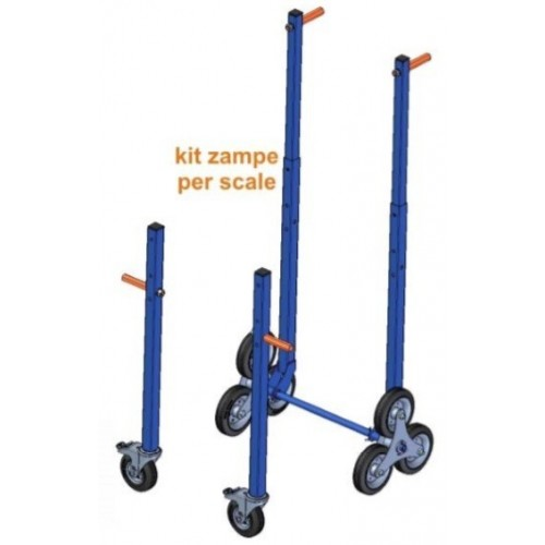 Kit Zampe con ruote montascale