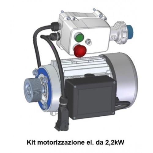 Kit motore elettrico 2,2kW Crunchy