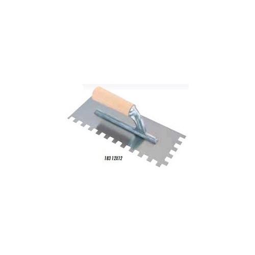 Spatola dentata 28x12 dente 12x12