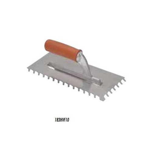 Spatola dente inclinato 28x13 dente 10x10