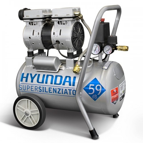 Compressore Supersilenziato Oilless HYUNDAI KWU 750-24L