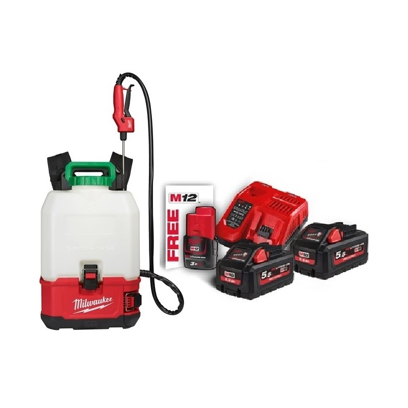 Pompa irroratrice a batteria Milwaukee Pack2