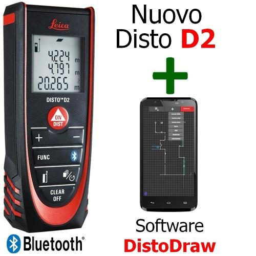 Misuratore Laser Leica DISTO D2 BT